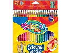 Карандаши цветные 24цв. Colorino треугольные с точилкой 57462