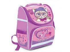 Рюкзак (ранец) школьный каркасный Willy WL-870 Lovely Cat мягкая спинка 34*22*15см