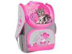 Рюкзак (ранец) школьный каркасный Willy WL-864 Cat мягкая спинка 34*22*15см
