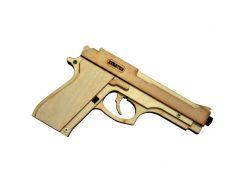Деревянная сборная механическая 3D модель Strateg 400 Пистолет Беретта М9