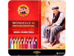 Карандаши акварельные цветные 48 цв. KOH-I-NOOR Mondeluz подарочные 372604