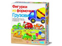 Набор для творчества 4M гипс на магнитах Грузовики 00-03538