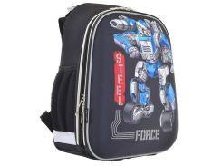 Рюкзак (ранец) 1 Вересня школьный каркасный 555950 Steel Force H-12-2 38*29*15см