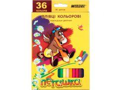 Карандаши цветные 36цв. MARCO Пегашка 1010-36