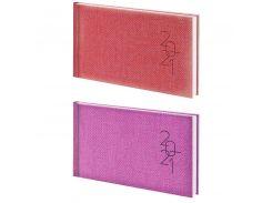 Еженедельник 2021 Brunnen 9*15,5см карманный Tweed 73-755 32_Фиолетовый