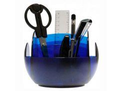 Настольный набор пластик Scholz 9предм 7013 Вертушка_Синий прозрачный