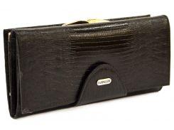Кошелек кожаный Canpellini 2032-8 Лазер черный
