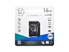 Карта памяти microSDHC 16GB TG class 10 (adapter SD) TG-16GBSD10U1-01