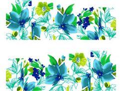 Фото-дизайн 0048 Зелено-голубые цветы