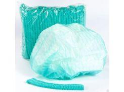 Шапочка однор. на одной резинке,зеленый, 100шт, космет.Polix P&M