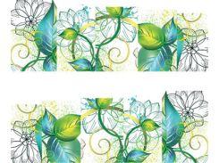 Фото-дизайн 0054 Вьюнок зелено-голубой