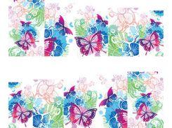 Фото-дизайн 0038 Бабочки и яркие цветы