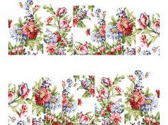 Фото-дизайн 0036 Нежные розов и голуб цветы
