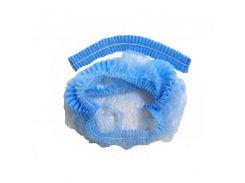 Шапочка однор. на одной резинке,голубой, 100шт,космет.ASTRA