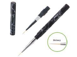 Кисть для дизайна ЛАЙНЕР черная пластиковая ручка 10мм CREATOR