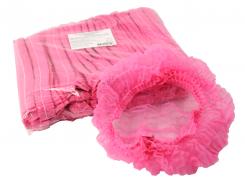 Шапочка однор. на двойной резинке,розовый, 100шт, космет.Polix P&M
