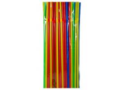 Трубочки для коктейлей разноцветные, 210*4.8 мм