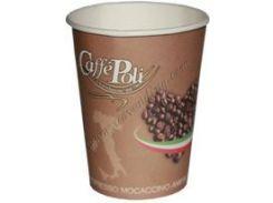 """Бумажный стакан с логотипом """"Caffe Poli"""" 250 мл"""