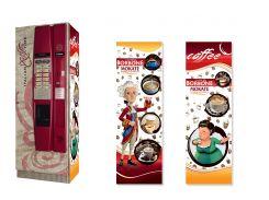 Брендированная наклейка на кофейный автомат Saeco Cristallo 400, красный
