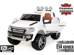 Детский двухместный электромобиль джип Ford Ranger на резиновых колесах