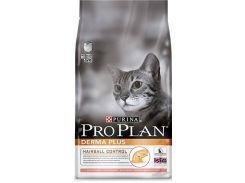 Сухой корм для кошек Purina Pro Plan Derma Plus Salmon and Rice с лососем и рисом (10 кг)