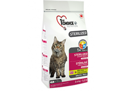 Сухой корм для кастрированных котов и стерилизованных кошек 1st Choice STERILIZED (5 кг)