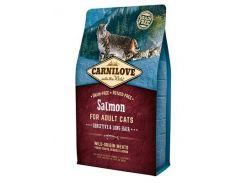 Carnilove Salmon Adult Sensitive and Long Hair Корм для длинношерстных кошек с лососем (2 кг)