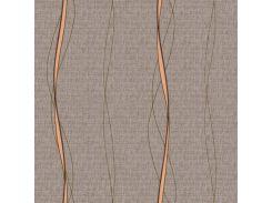 Обои бумажные Континент Токио коричневые 1073