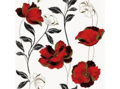 Обои бумажные Континент Есения красные цветы белый фон 1271