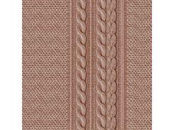 Обои бумажные влагостойкие Лана коричневая 2107