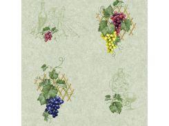 Обои бумажные влагостойкие Виноград зеленый 2153