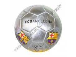 Серебристый мяч Барселона FCB с автографами игроков (1939) размер 5