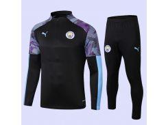 Футбольный костюм для детей Манчестер Сити Puma Black/Team Light 19/20  Размер (2909)