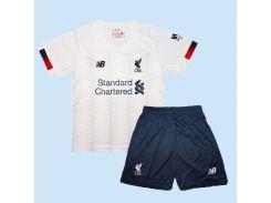 Детская футбольная форма Ливерпуля 19-20 New Balance выездная M 125-135 см M-22 (2781)