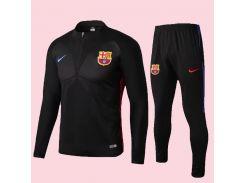 Футбольный костюм для детей Барселона Black Nike р.22 115-125 см N10-22 (2508)