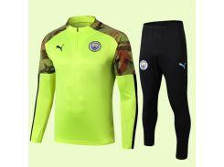 Спортивный костюм футбольный Манчестер Сити для детей Puma Green 19/20 р.28 145-155 см N16-28 (2910)