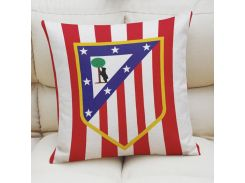 Наволочка Атлетико Мадрид 45х45 см льняная 45х45 см (2491)