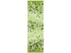 Простынь из полиэстера Евроразмер, Зеленая лилия, Стандартная
