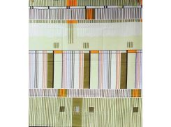 Наволочки из полиэстера На запах, 75.0, 50 х 70, Зеленые полосы, Наволочки, 70