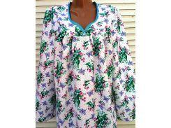 Теплая ночная рубашка из фланели 52 размер