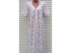 Ночная рубашка с рукавом 46 размер Нежность