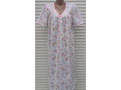 Ночная рубашка с рукавом большого размера 62 размер Нежность