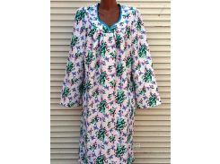 Теплая ночная рубашка из фланели 46 размер Ландыши