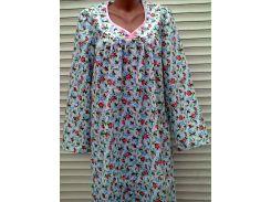 Теплая ночная рубашка из фланели большого размера 60 размер