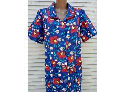 Летний халат с коротким рукавом 46 размер Маки