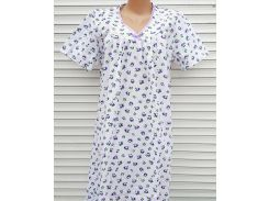 Ночная рубашка с рукавом 56 размер Сиреневые цветы