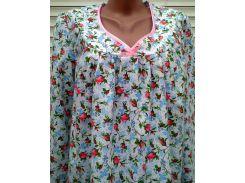 Теплая ночная рубашка из фланели большого размера 64 размер