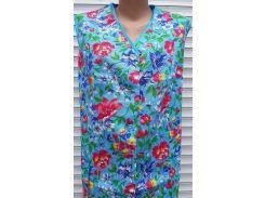Летний халат без рукава большого размера 60 размер