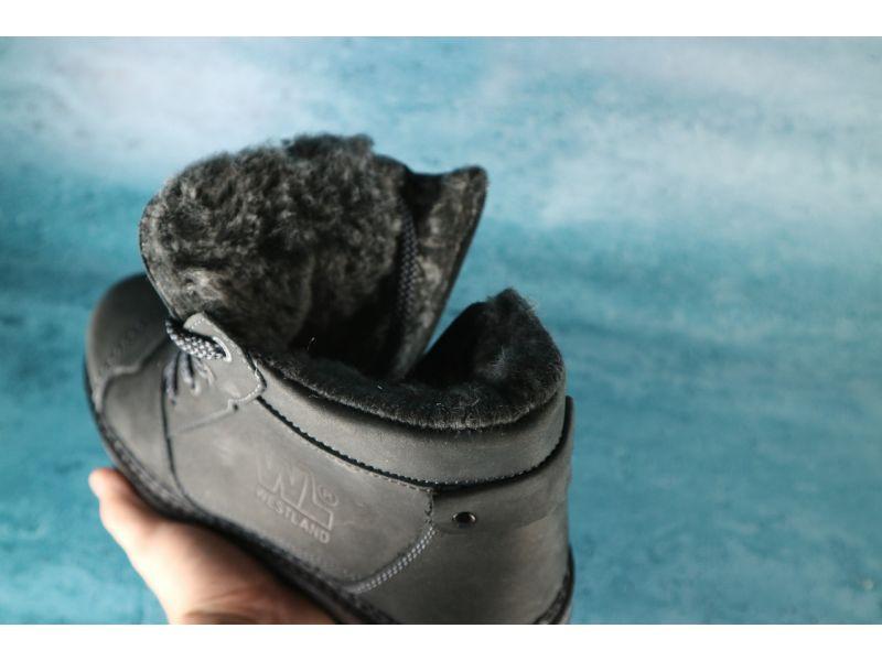 6f421fb6f Ботинки мужские кожаные Westland черный (зима) 10551 купить недорого ...