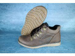 Ботинки зимние мужские кожаные Yuves коричневые 10540